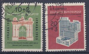 1953 Internationale Briefmarkenausstellung IFRABA sauber Gestempelt 171-72