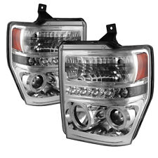 Ford 08-10 F250 F350 F450 F550 SuperDuty CCFL Halo LED Projector Headlights