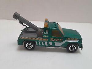MATCHBOX GMC 1987 WRECKER GREEN 1:72 Loose Ron's T-89 Tow Truck