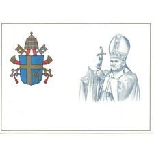 VATICAN 1981 POSTCARD POSTAL G.. PAOLO II VARIETIES WITHOUT HAND NEW MF29389