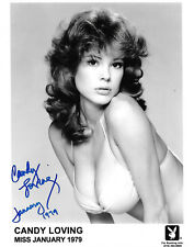 CANDY LOVING 25th ANNIVERSARY PLAYBOY PLAYMATE SEXY RARE SIGNED PHOTO  (CN3)