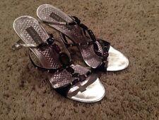 Vince Camuto Stiletto Pumps Shoes Silver Upper Leather Sole US 7.5 B M EU 37.5