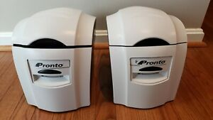 Lot of 2 - Magicard Pronto Single Side Thermal Photo ID Card Printer - For Parts