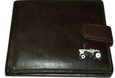 David Brown Vintage Tractor Leather Wallet Gift Box Black/Brown Enamel Farming