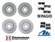 Mercedes CL55 S55 AMG 2003-2006 Zimmermann F&R Disc Brake Rotors with Pads