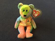Rare 1996 Ty Peace Beanie Babies P.V.C Pellets