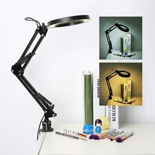 5X LED Lupenleuchte mit Clamp Craft Glaslupe Laborarbeitslicht Lupe Magnifier