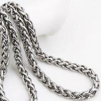 50 cm 2018 Klassisch Edelstahl Kette Halskette für Männer S9I8 lang V2F5
