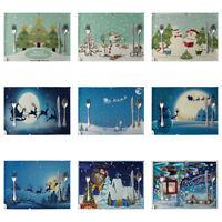 HN- KE_ AU_ KQ_ JT_ Christmas Dining Table Heat Insulation Mat Linen Placemat Ki