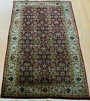 3' x 5'  Fine Indo-Tabrizz Fish Design Heratii Hand Knotted Wool Oriental Rug