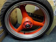 Kawasaki ZX6R ZX600F Vorderradfelge Rot Teilpoliert ohne Reifen