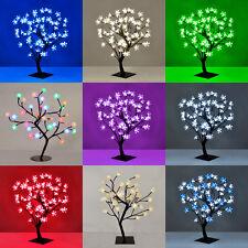 Modern 72 LED Cherry Blossom / Roses Bonsai Tree Fairy Twig Lights Table Lamps