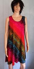 Jostar RAINBOW Abstract Animal SLINKY Short Tank DRESS No Iron Travel Fabric L