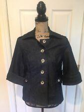 New White House Black Market Blazer Jacket Suit Coat  Denim Blue Size 4 $ 98