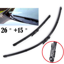 "Set of 2 Front Window Windshield Wiper Blades Windscreen 26"" 15"" Exact Fit Pair"