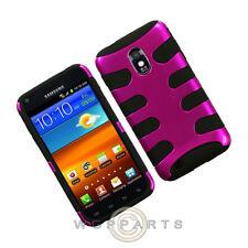 Samsung Galaxy S II Shield Fishbone Hot Pink/Black Case Cover Shell