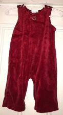 Ralph Lauren Girls Red Velour One Piece Outfit Holiday Christmas 6M Romper