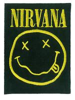 Patch écusson Nirvana grunge rock patche thermocollant DIY personnaliser brodé
