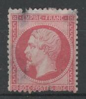 "FRANCE STAMP TIMBRE 24 "" NAPOLEON III 80c ROSE 1862 "" NEUF ( x ) A VOIR  P669"