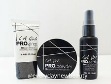 LA L.A. Girl Pro Face Primer, Setting Powder & Setting Spray Set - US SELLER