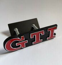 GTI Red Silver Metal Front Grille Grill Badge Emblem kit for Golf Polo Mk5 Mk6