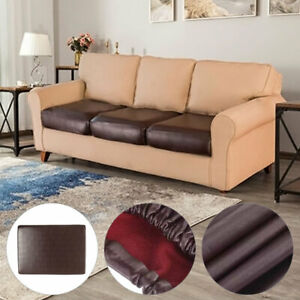 Waterproof PU Leather Elastic Stretch Sofa Seat Cushion Cover Protector Couch