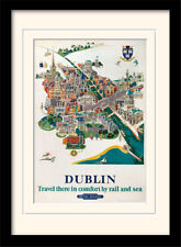 Dublin Travel There In Comfort Framed & Mounted Print