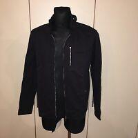 NEW Men's Adidas Neo Label Black Military Jacket Size L / XXL