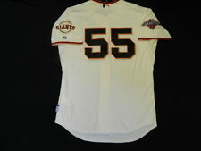 Authentic MAJESTIC SZ. 56 3XL SAN FRANCISCO GIANTS TIM LINCECUM COOL BASE Jersey