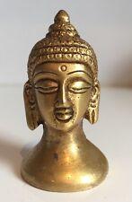 "Cabeza De Buda pesado 2"" Busto Budha Estatua Latón Antiguo Finsih Regalo Navidad"