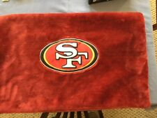 49ERS PILLOW CASE  ~ NFL FOOTBALL BEDROOM HOME DECOR SUPER PLUSH