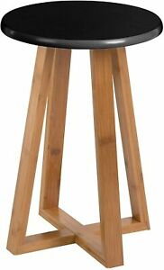 Round Wooden Stool Bamboo Small Wooden Stool Side Table or Mini Kids Stool Seat