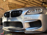 For 14-16 BMW F06 F12 F13 M6 Only V Type Carbon Fiber Front Bumper Add-on Lip