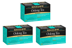 Bigelow Oolong Tea - 3 Boxes - 60 Tea Bags