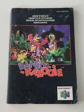 Notice Banjo-Kazooie - nintendo 64