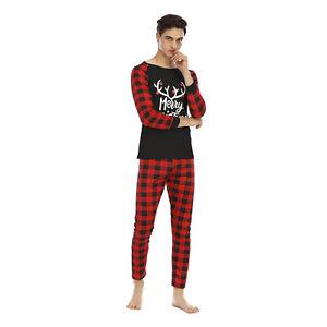 Christmas Family Matching Pyjamas Sleepwear PJs Set Kid Adult Nightwear Festive