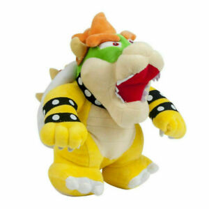 Super Mario Bros Stand Bowser Koopa Plush Doll Stuffed Figure Toy 10 inch Gift