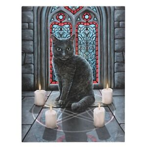 SACRED CIRCLE SMALL CANVAS ART PRINT LISA PARKER GOTHIC WICCA WITCH CAT MAGIC