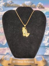 Men/women Gold Plated Buddha Praying Hands With Stainless Steel Gold color chain