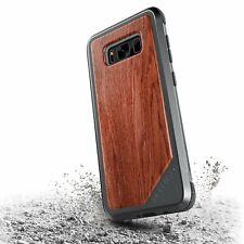 x-doria Defense Lux Case Grau Braun für Samsung Galaxy S8 Cover Schutzhülle Alu