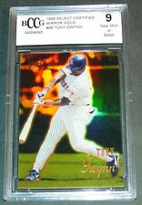 1995 TONY GWYNN SELECT CERTIFIED MIRROR GOLD BCCG 9 CHEAPER THAN 1996