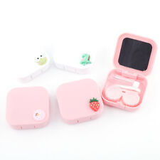 Portable Contact Lens Case With Mirror Contact Lens Care Kit Container Lens Box