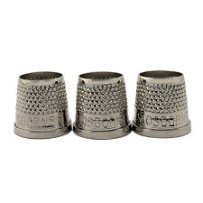 """C.S. Osborne 3 Pk. Open End Thimbles 510 Size 5 (19/32"""") Made In USA"""