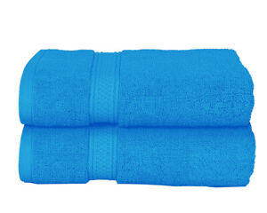 Pack of 2 JK Large Bathsheets 100% Egyptian Cotton Bath Towels (80x140cm) 600GSM