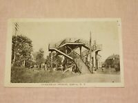 VINTAGE OLD POSTCARD 1921 OVERHEAD BRIDGE SUFFERN NY