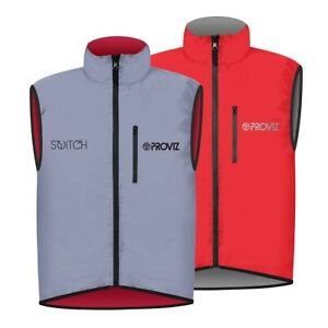 Proviz Switch Hi Viz Men's Cycling Gilet Red / Reflective Hi Visibility