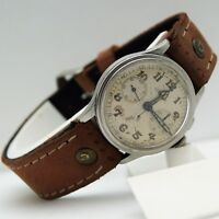 Chronograph Lemania 13TL vintage military wristwatch WW2