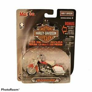 NOC 1968 FLH Electra Glide Diecast Model 1:24 Scale Harley Davidson Motorcycle