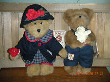 "Boyds Bears Plush (Spring 2004) ~ 8"" Bailey & Edmund~ Bird Loving Bears"