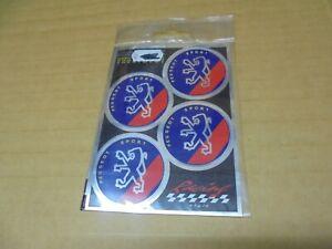 4 COPRIMOZZO Adesivi Sticker PEUGEOT  Emblema-Nuovo